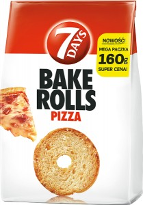 BAKE ROLLS 7 DAYS 160G PIZZA